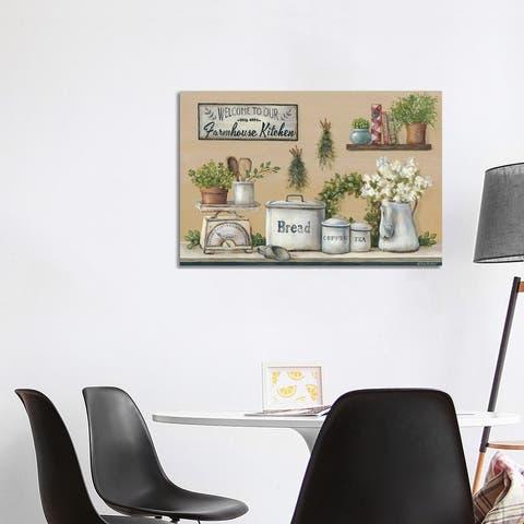 """iCanvas """"Garden Farmhouse Kitchen"""" by Pam Britton Canvas Print"""