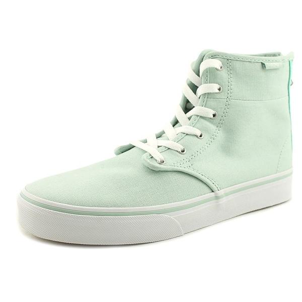 Vans Camden Hi Zip Women Round Toe Canvas Green Skate Shoe