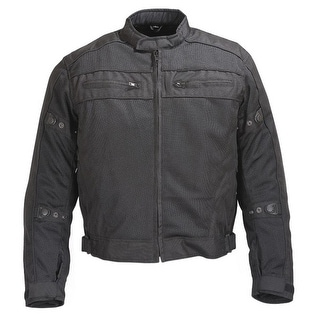 Mens Black Mesh Motorcycle Jacket 5peice CE Armor MBJ064