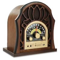 Vintage Style Bluetooth Radio - Classic Design Stereo Speaker System