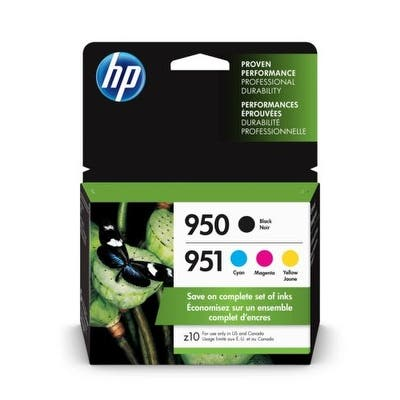 HP 950 Black 951 CMY/ INK Cartridge COMBO 4-PK X4E06AN - colors