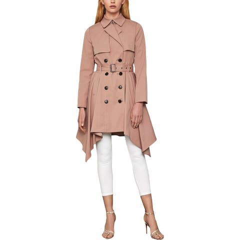 BCBG Max Azria Womens Brielle Trench Coat Long Belted - Blush