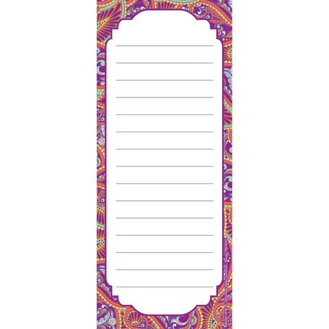 "Positively Paisley Note Pad, 3 1/2"" x 8 1/2"", 50 Sheets - One Size"