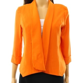 Alberto Makali NEW Orange Women's Size Small S Open Front Jacket