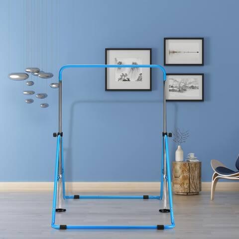 Zenova Gymnastics Bars Kids Kip Junior Training Bars for Home, Folding Horizontal Bars with 5 Adjustable Height