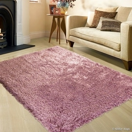 "Allstar Pink High Density and High Quality High End Shaggy Area Rug. Very Soft Extra comfort (4' 11"" x 7')"
