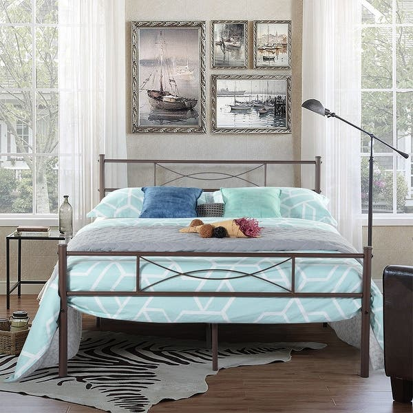 Shop 4 Color Metal Bed Frame Bedroom Furniture with ...