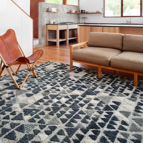 Alexander Home Vail Mid-century Modern Geometric Diamonds Area Rug
