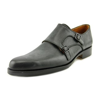 John Fluevog 205 Pine St Men Round Toe Leather Black Oxford