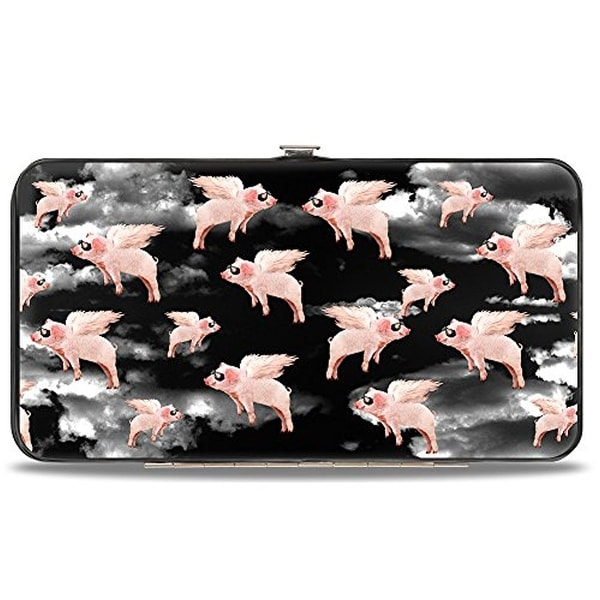 Buckle-Down Hinge Wallet - Pigs