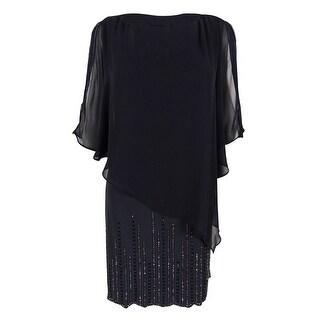 Xscape Women's Embellished Chiffon Overlay Dress - 4