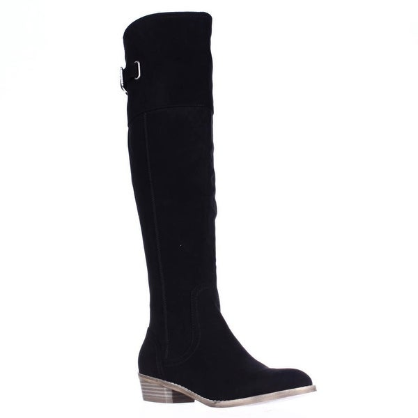 G by GUESS Aikon Back Lace Buckle Tall Boots, Black