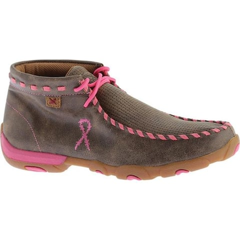 Twisted X Boots Women's WDM0051 Driving Moc Bomber/Neon Pink Leather