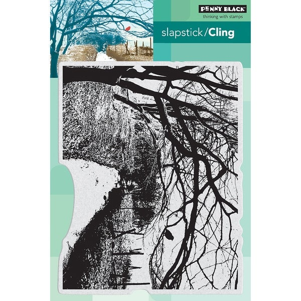 """Penny Black Cling Stamp 5""""X7""""-Down The Lane"""