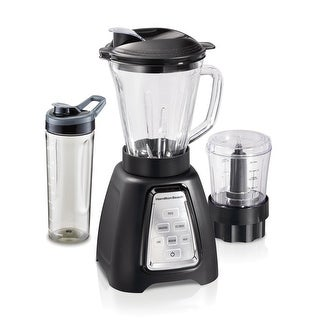 Link to Hamilton Beach MultiBlend System with Glass Jar, Travel Jar and Food Chopper Similar Items in Kitchen Appliances