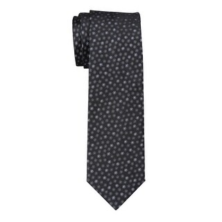 Yves Saint Laurent Spots Classic Silk Tie Black and Grey Size 8