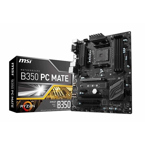 Msi B350 Pc Mate Am4 Amd B350 Ddr4 Sata 6Gb/S Usb 3.1 Hdmi Atx Motherboard