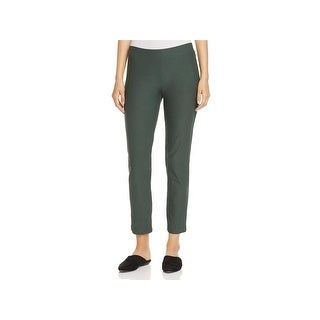 Eileen Fisher Womens Ankle Pants Crepe Flat Front