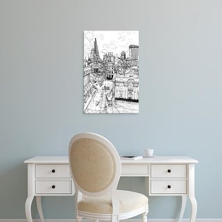 Easy Art Prints Melissa Wang's 'B&W City Scene III' Premium Canvas Art