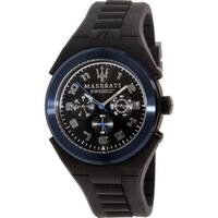 Maserati Men's Pneumatic  Black Rubber Analog Quartz Dress Watch