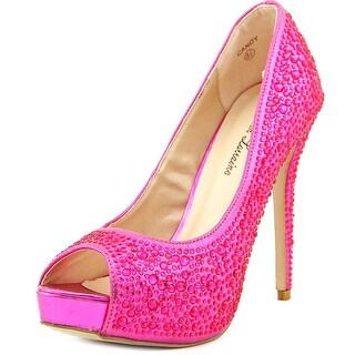 Lauren Lorraine Candy Women Peep-Toe Synthetic Heels