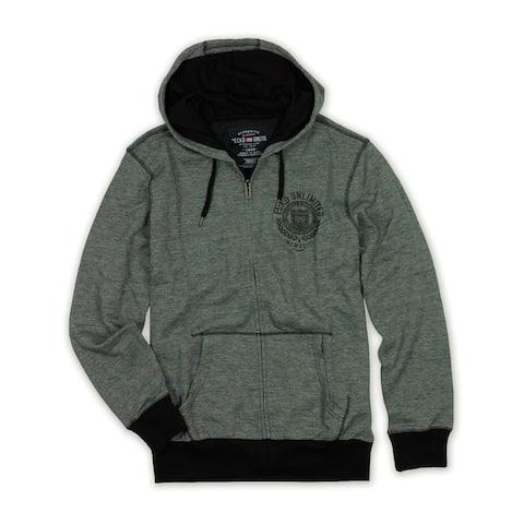 Ecko Unltd. Mens Skulls Fly Full Zip Hoodie Sweatshirt, Black, X-Small