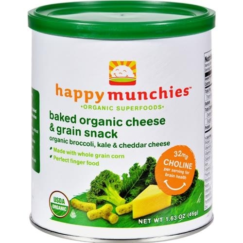 Happy Family - Happy Munchies Baked Organic Snacks - Cheese And Veggie ( 6 - 1.63 OZ)