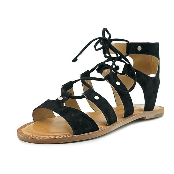 Dolce Vita Jasmyn Women Open Toe Suede Black Gladiator Sandal