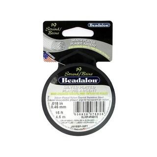 "Beadalon Bead Wire 19Strand .018"" Silver Plate 15'"