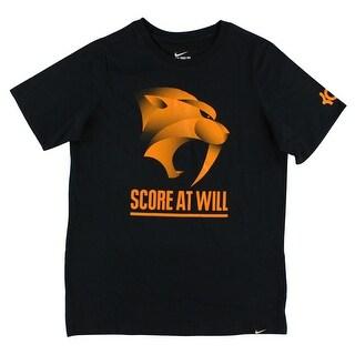 Nike Boys Kevin Durant Score At Will T Shirt Black - Black/Orange