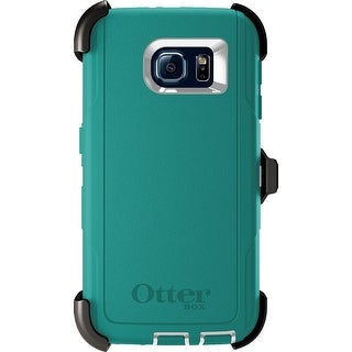 OtterBox Defender Series Samsung Galaxy S6 Case w/ Belt Clip Holster White Teal