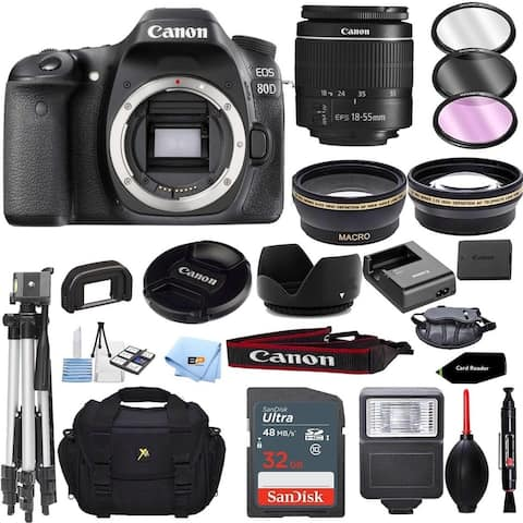 Canon EOS 80D Camera Accessory Kit W/ 18-55mm f/3.5-5.6 IS STM Lens