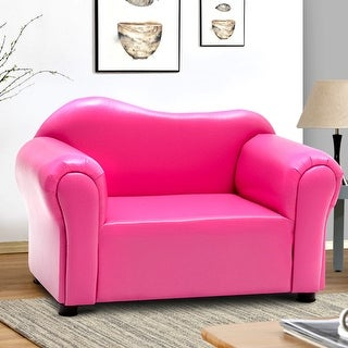 Costway Kids Armrest Chair Sofa Couch Child Birthday Gift Living Room Furniture Rose