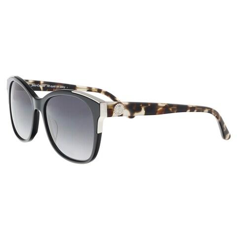 Juicy Couture JU 593/S 0807/9O Black Square Sunglasses - 56-17-140