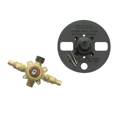 "Jones Stephens 1559901 Pressure Balanced Shower Valve with 1/2"" Crimp PEX Connection"