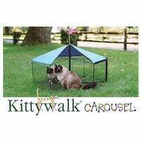 "Kittywalk Carousel Outdoor Cat Enclosure Green 48"" x 48"" x 24"""