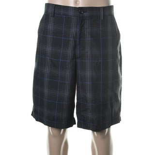 Greg Norman Mens Plaid Moisture Wicking Casual Shorts - 38