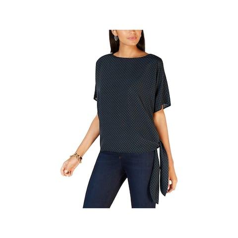 MICHAEL Michael Kors Womens Pullover Top Graphic Sun Dot
