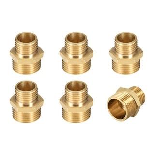 "Brass Pipe Fitting Reducing Hex Nipple 1/4""x 3/8"" G Male Pipe Brass Fitting 6pcs - 1/4"" to 3/8"" G Male 6pcs"