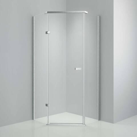 "Tempered Glass & Aluminum Frame 36""x76"" H Shower Enclosure"
