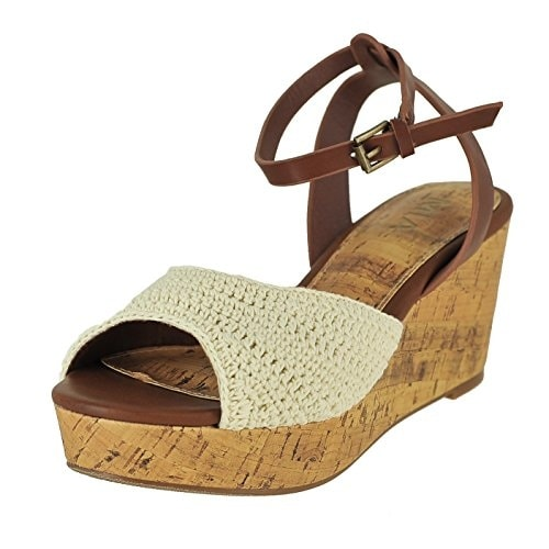 Monica, Off White Macrame, Size 7.5 - off white macrame