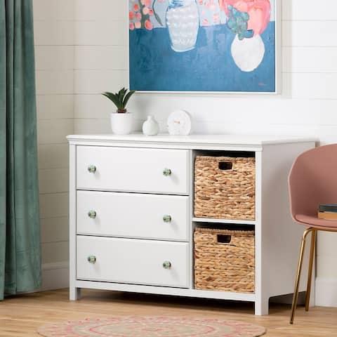 South Shore Balka 3-Drawer Dresser with Baskets