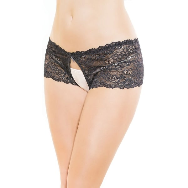 Flirty Lace Crotchless Panty