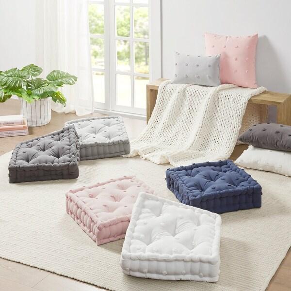 Urban Habitat Maize Cotton Jacquard Square Floor Pillow Cushion. Opens flyout.