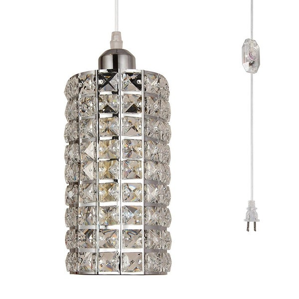 Modern Copper Ring Led Pendant Lighting 10758 Shipping: Shop Modern Industrial Dimmer Switch Plug In Crystal