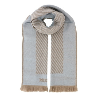 Missoni SC12WOU5084 0005 Light Blue/Tan 100% Wool Scarf