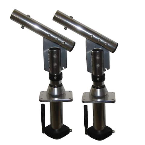 Lee's tackle inc. lee's sidewinder bolt-on mount lay-down version silver (pair) sw9300