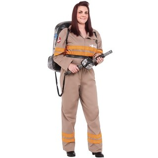 Rubies Deluxe Ghostbusters Female Plus Size Costume - Beige - plus size
