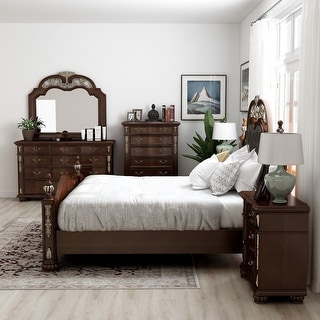 Link to Furniture of America Urex Traditional Cherry 6-piece Bedroom Set Similar Items in Bedroom Furniture