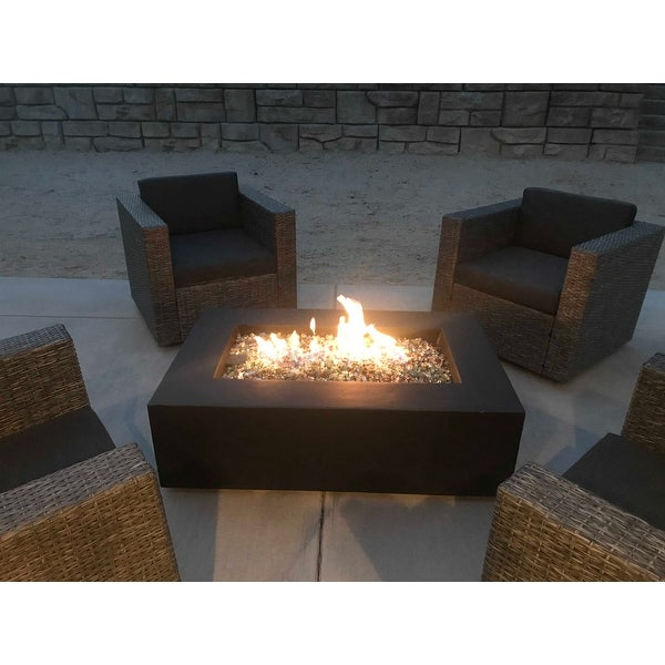Shop Real Flame Baltic Natural Gas Fire Table Kodiak Brown - Free